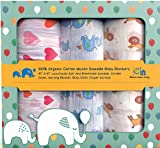 Swaddle Blanket for Baby Boys and Girls - 100% Organic Muslin Swaddle ...